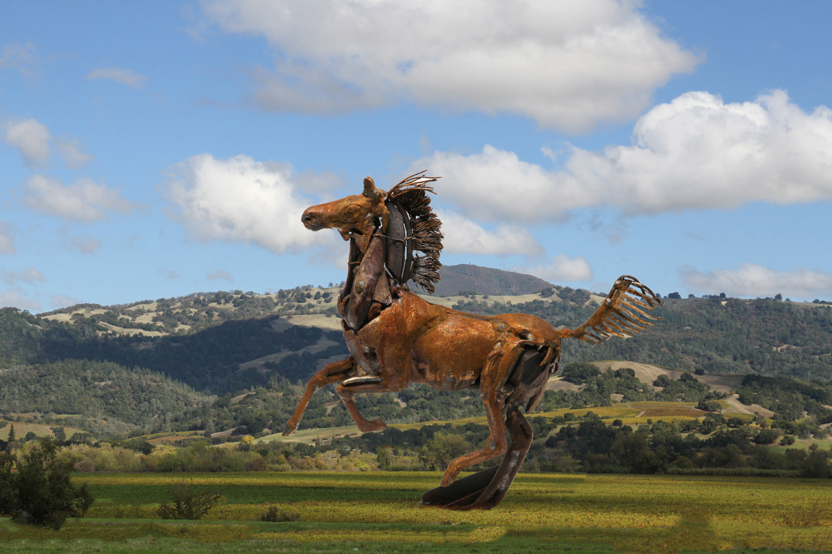 Gigantic Galloping Horse
